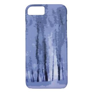 Fodral för iPhone 7 för blåttvinterskogen abstrakt
