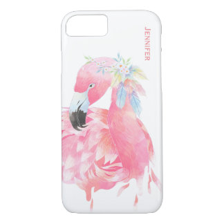 Fodral för iPhone 7 för chic rosa Flamingo