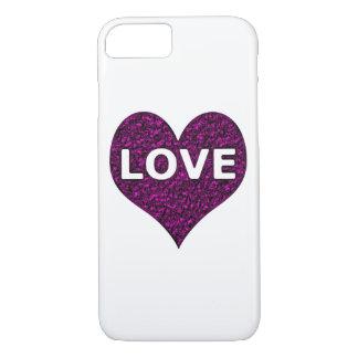 Fodral för iPhone 7 för krom för kärlekhjärta