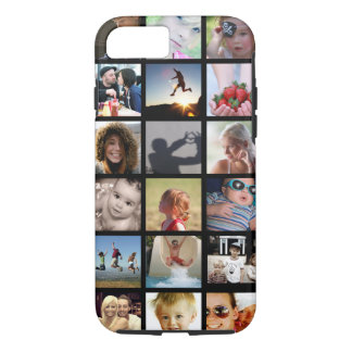 Fodral för iPhone 7 för kundfotoCollage (-