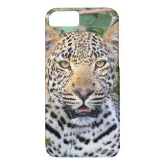 Fodral för iPhone 7 för Leopardhuvud knappt där
