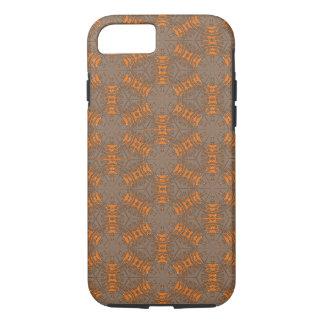 Fodral för iPhone 7 för orange och för mocka brunt