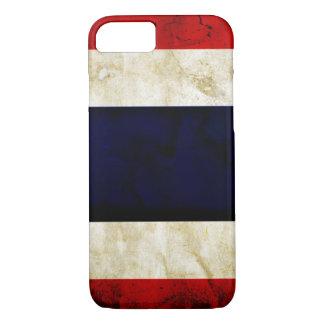 Fodral för iPhone 7 för Thailand Grungeflagga