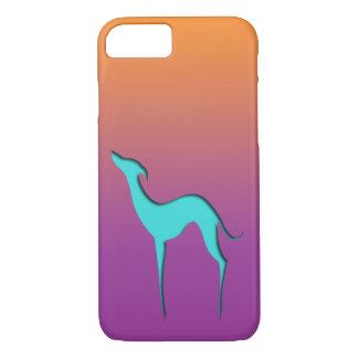 Fodral för iPhone 7 för vinthund-/Whippet blått