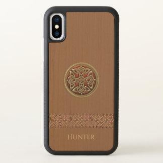 Fodral för iPhone X för röd guld- Celtic fnurra