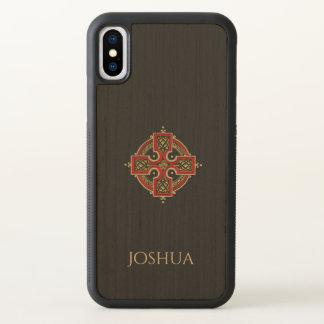 Fodral för iPhone X för röd och guld- Celtickor