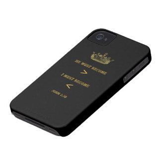 Fodral för John 3:30blackberry bold (den svart ant iPhone 4 Fodral