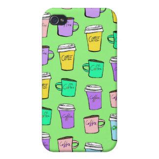 fodral för kaffekaffekaffe iPhone 4 skal