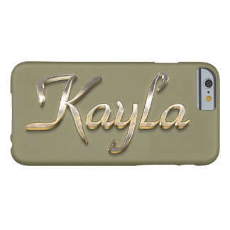 "Fodral ""för Kayla"" beställnings- MonogramiPhone 6 Barely There iPhone 6 Skal"