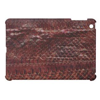 Fodral för kortkort för iPad för läderormtryck iPad Mini Skal