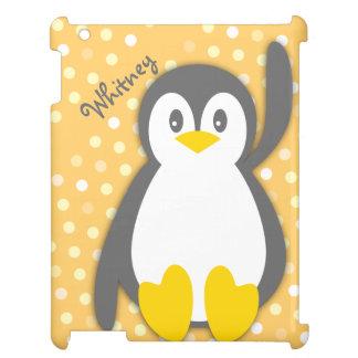 Fodral för kortkort för ipad för namn för pingvin iPad fodral