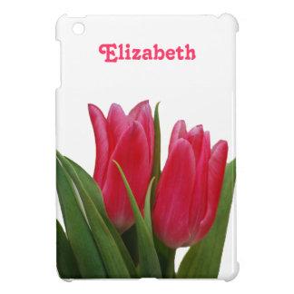 Fodral för kortkort för shock rosatulpaniPad iPad Mini Skal