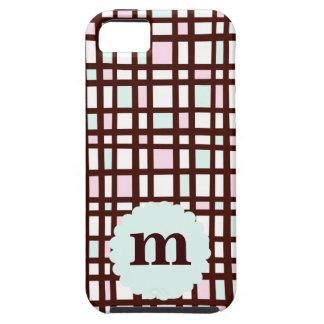 Fodral för Monogram för kammussla för pläd för iPhone 5 Case-Mate Fodral