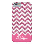 Fodral för namn BLING för rosaglittersparre Barely There iPhone 6 Fodral
