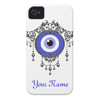 fodral för öga för iPhoneblått ont iPhone 4 Case-Mate Skydd