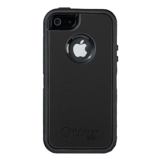 Custom OtterBox Apple iPhone SE/5/5s Defender Serier Case, Svart