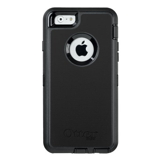 Custom OtterBox Apple iPhone 6/6s Defender Serier Case, Svart