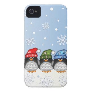 Fodral för pingvin- & snöflingoriPhone 4 iPhone 4 Skydd