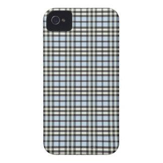 Fodral för plädmönsterblackberry bold (blått/svart Case-Mate iPhone 4 fodral