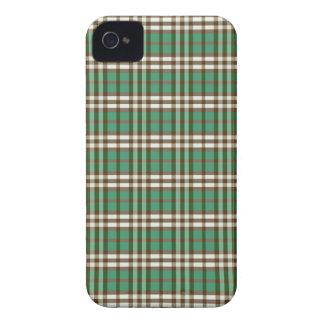 Fodral för plädmönsterblackberry bold (grönt/brunt iPhone 4 Case-Mate cases