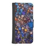 Fodral för plånbok för läder för Bling abstrakt Mobil Plånbok
