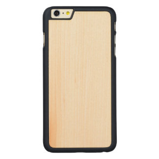 Fodral för plus för iPhone 6/6s för trä slankt Carved® Maple iPhone 6 Plus Skal