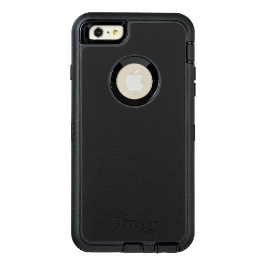Custom OtterBox Apple iPhone 6 Plus Defender Serier Case, Svart