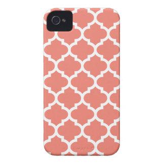 Fodral för Quatrefoil iPhone 4/4S i korall iPhone 4 Cover