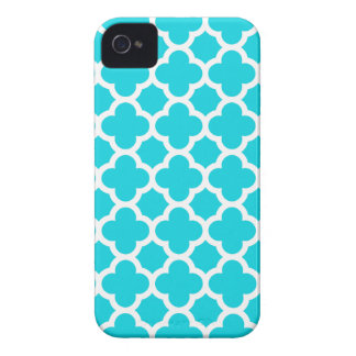 Fodral för Quatrefoil iPhone 4S i Aqua Case-Mate iPhone 4 Fodral