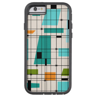 Fodral för Retro raster- och Starbursts iPhone Tough Xtreme iPhone 6 Case