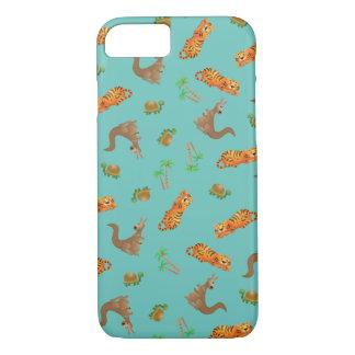 Fodral för sköldpadda-, tiger- & känguruiPhone 7