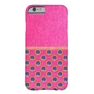 Fodral för snäcka för rosa sammetShimmerstruktur Barely There iPhone 6 Skal