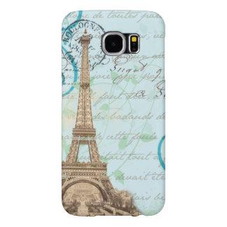 Fodral för telefon för Aqua för handstil för Paris Galaxy S5 Fodral
