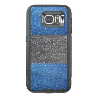 Fodral för telefon för blått- & silverglittercell