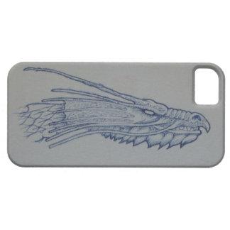 Fodral för telefon för blåttdrakehuvud iPhone 5 Case-Mate skydd
