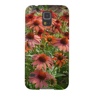 Fodral för telefon för blom- tryck för Echinacea Galaxy S5 Fodral