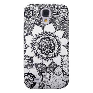Fodral för telefon för blommaMandalaSamsung galax Galaxy S4 Fodral