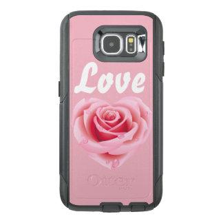 Fodral för telefon för cell för kärlekblöt rosa