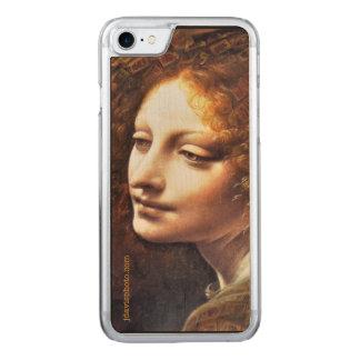 Fodral för telefon för Da Vinci Mahj-Ängel Wood