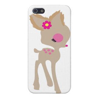 fodral för telefon för hjort för blomma för bebisB iPhone 5 Hud