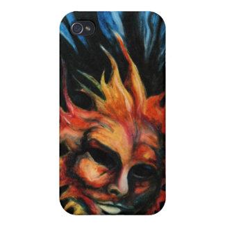 Fodral för telefon för konst för KeroseneFireballs iPhone 4 Skal