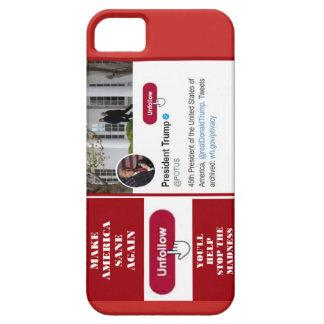 Fodral för telefon för TwitterUnfollow trumf iPhone 5 Skal