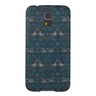 Fodral för telefon för William Morris fågelmönster Galaxy S5 Fodral