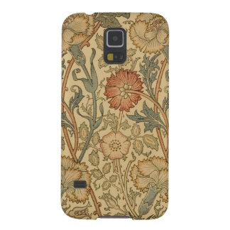 Fodral för telefon för William Morris rosa- & Galaxy S5 Fodral