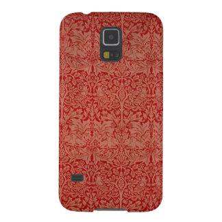 Fodral för telefon för William Morris rött Galaxy S5 Fodral