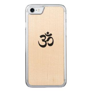 Fodral för trä för Om-symboliPhone 7 mobilt