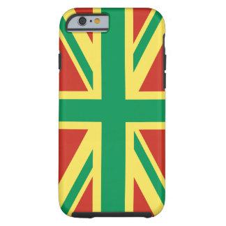 Fodral för tuff för iPhone 6 för Rasta flaggaUK Tough iPhone 6 Skal