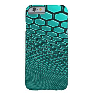 fodral för vägg för Hexagram för Aquamarine 3d för Barely There iPhone 6 Fodral