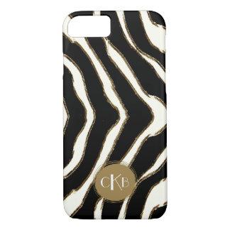 Fodral för zebra tryckMonogramiPhone 7