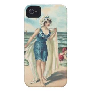 Fodral-Kompis för Babes för strand för iPhone 4 Cover